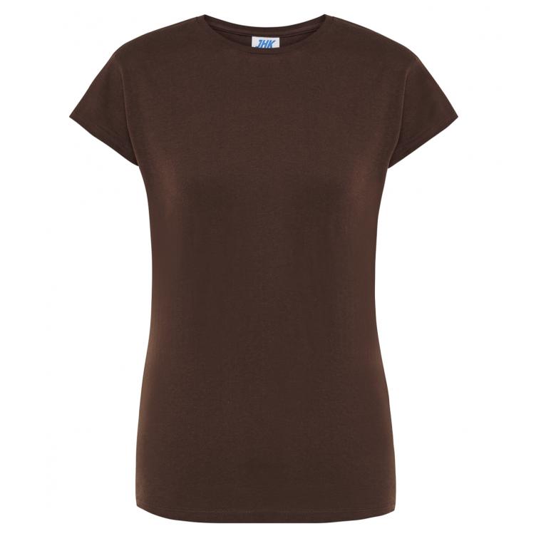 T-Shirt Brązowy - Damski