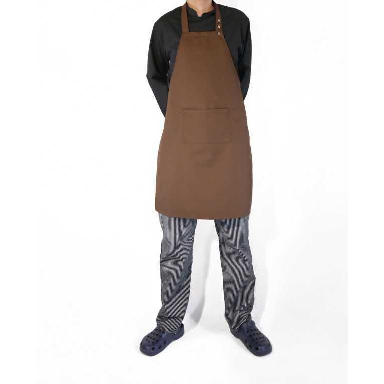Fartuch kucharski – Brązowy