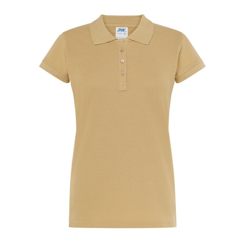 Koszulka Polo Beżowa - Damska