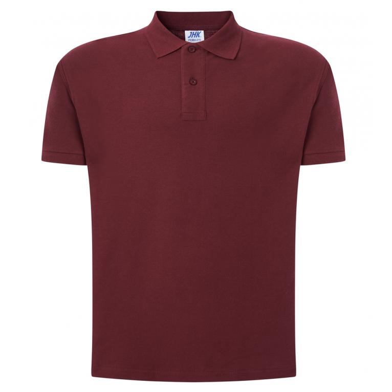 Koszulka Polo Burgundowa -...