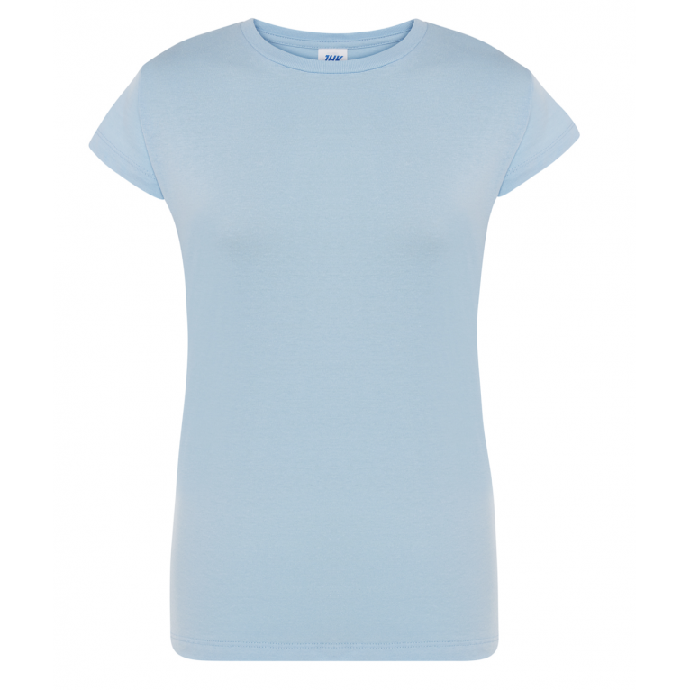 T-Shirt Błękitny - Damski