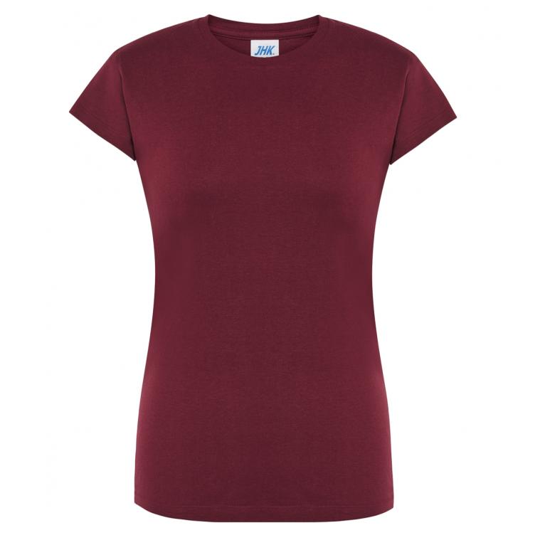 T-Shirt Bordowy - Damski