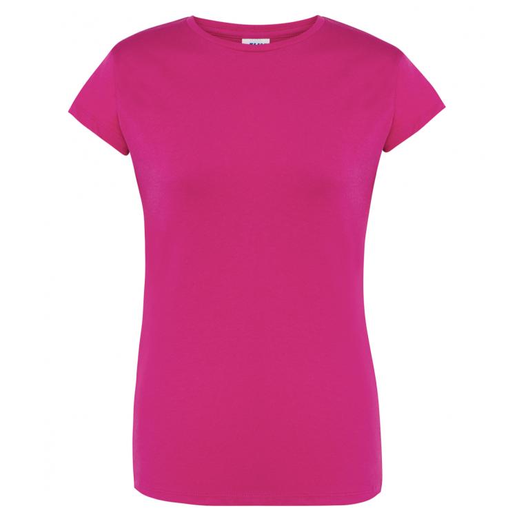 T-Shirt Fuksja - Damski